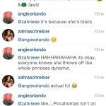 zahra schreiber racist instagram (1)
