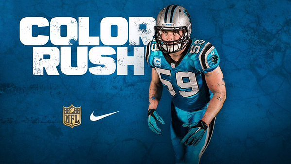 online retailer 0984c b4513 Carolina Panthers Debut All-Blue Jerseys For Color Rush