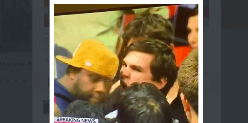trump guy punched