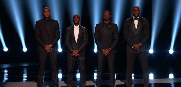 Carmelo Anthony, Lebron James, Chris Paul, and Dwayne Wade