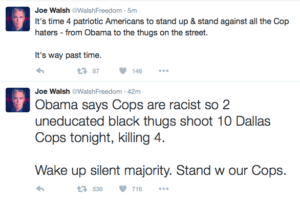 Joe Walsh Threatens President Obama on Twitter